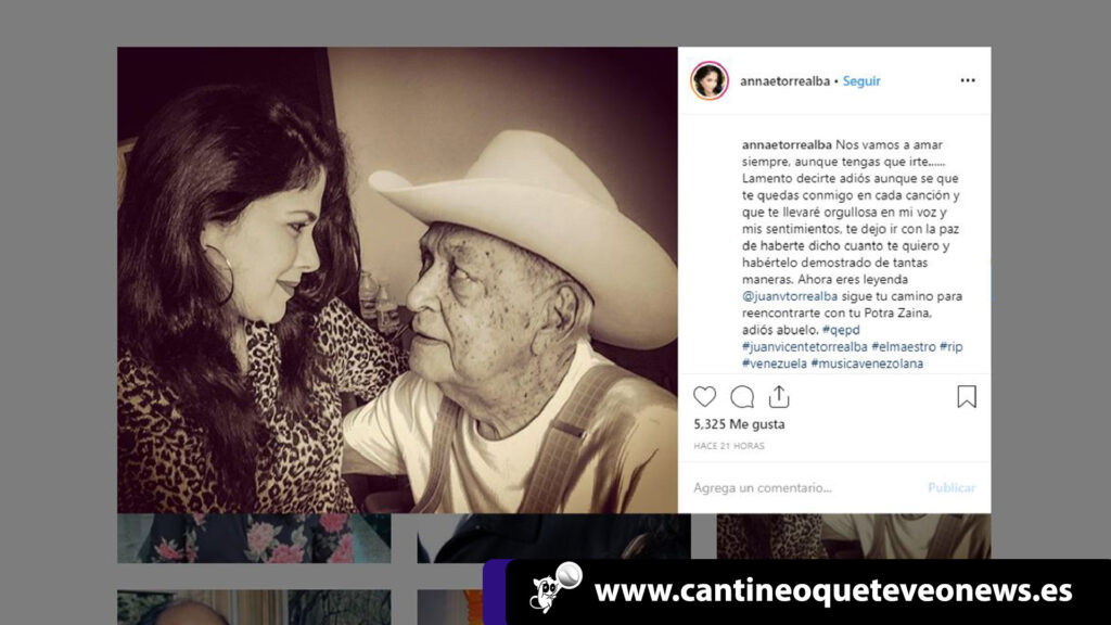 Annae Torrealba - Juan Vicente Torrealba - Cantineoqueteveo News