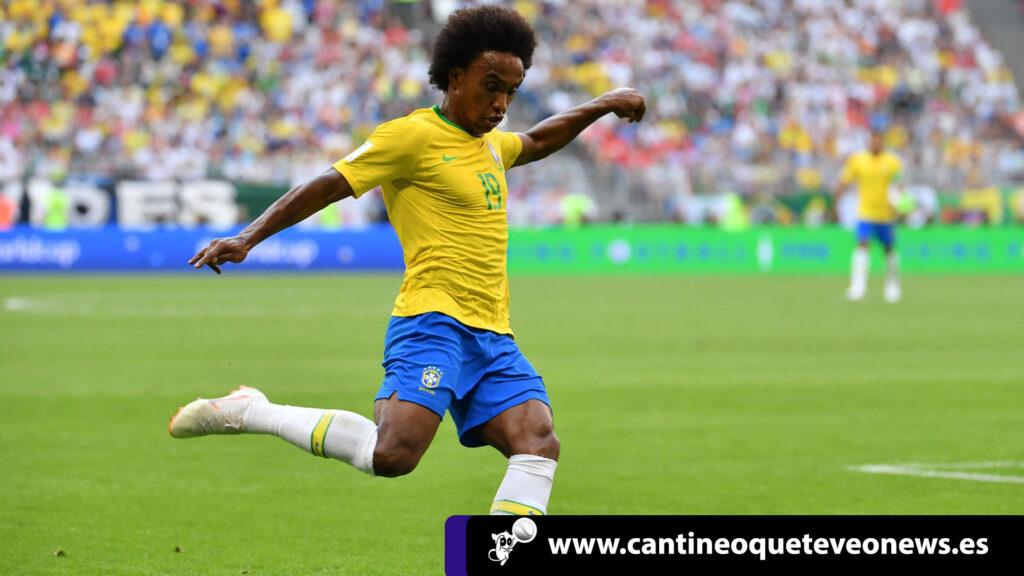 Willian bautizado y tomára el puesto de Neymar en Brasil 2
