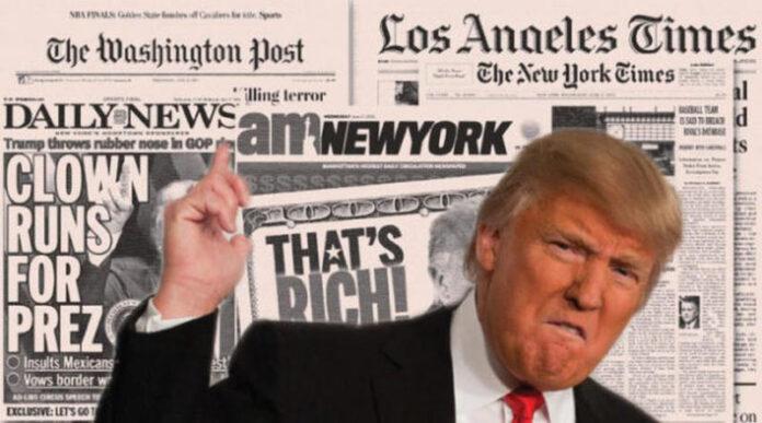 antineoqueteveonews - El presidente de los Estados Unidos ; acusó al diario The New York Times de un acto de traición.........
