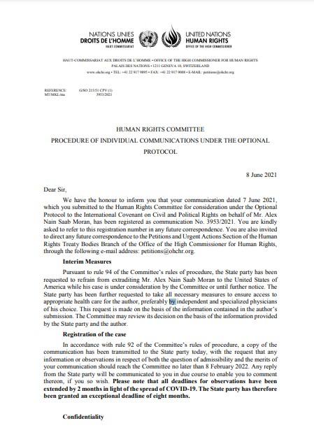 ONU ordenó suspender extradición de Alex Saab - 1